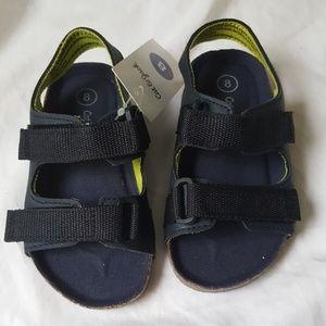 Boy's 8 Cat & Jack Keenan Navy Sandals   G246